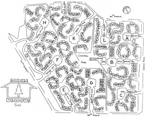 Map of Sarcee Meadows